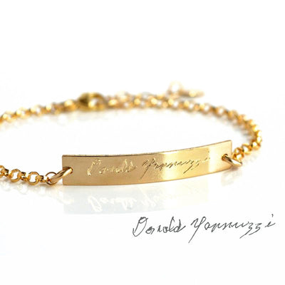 Custom Engraved Bar Bracelet