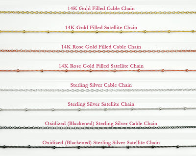 Simple Necklace Chain - Cable or Satellite