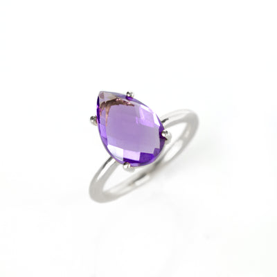 Sterling Silver Purple Amethyst Ring