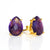 Purple Amethyst Teardrop Prong Set Stud Earrings : February Birthstone