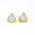 Rainbow Moonstone Triangle Studs