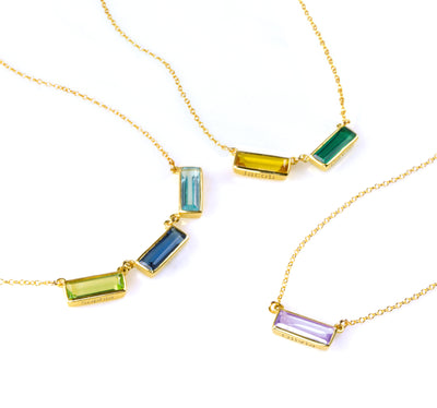 Birthstone Bar Necklace for Mom : Adira Series