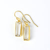 Adira Clear Quartz Bar Drop Earrings