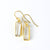 Clear Quartz Bar Earrings : April Birthstone : Adira Series