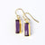 Adira Purple Amethyst Bar Drop Earrings