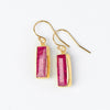 Adira Dyed Ruby Bar Drop Earrings