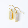 Rainbow Moonstone Bar Earrings : June Birthstone : Adira Series