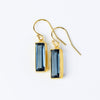 Kyanite Bar Earrings : September Birthstone : Adira Series