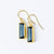 Adira Kyanite Bar Drop Earrings