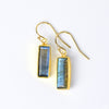 Labradorite Bar Drop Earrings, Adira Series