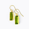 Peridot Bar Earrings : August Birthstone : Adira Series