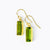 Adira Peridot Bar Drop Earrings