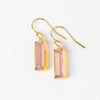 Adira Pink Chalcedony Bar Drop Earrings