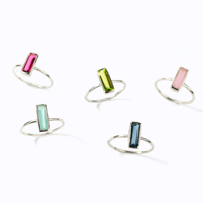 Adira Birthstone Bar Stud Earrings