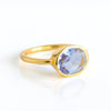 Oval Alexandrite Quartz Ring - June Birthstone
