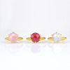 Ruby Round Prong Set Ring - July Birthstone