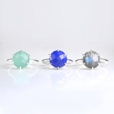 Kyanite Round Prong Set Ring - September Birthstone