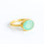 Oval Aqua Chalcedony Ring - March Birthstone