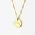Aries Constellation Necklace with Monogram Engraving on Back