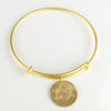 Personalized Monogram Bangle bracelet - Disk bangle