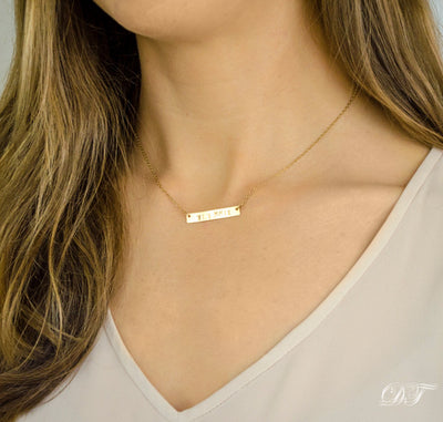 Fearless necklace - Silver, Gold or Rose Gold Bar
