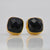 Black Onyx Cushion Bezel Set Stud Earrings