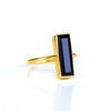 Black Onyx Bar Ring