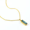 Labradorite Vertical Bar Necklace : Adira Series