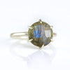 Labradorite Round Prong Set Ring