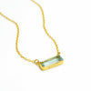 Blue Topaz Bar Necklace : December Birthstone : Adira Series