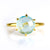 Blue Quartz Round Prong Set Ring : December Birthstone