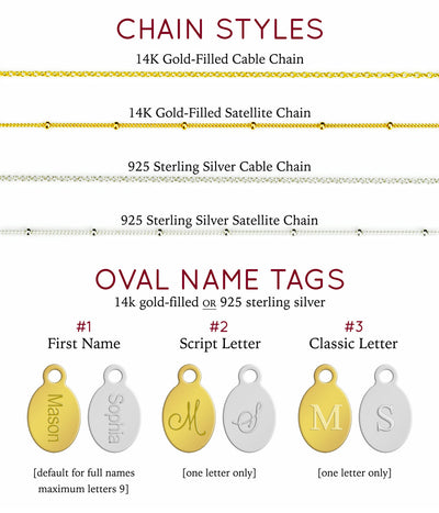 November Birthstone & Name Necklace : Citrine