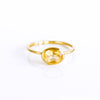 Small Oval Citrine Ring : November Birthstone