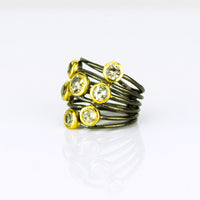 Citrine Ring, November Birthstone, Mixed Metal Ring