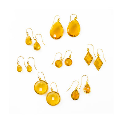 Citrine Earrings : November Birthstone