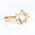 Clear Quartz Round Prong Set Ring : April Birthstone