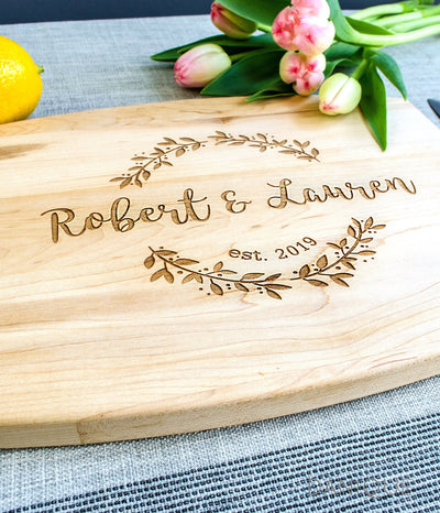 Real Wood Engraved Cutting Board