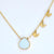 Custom Mother White Druzy Necklace - available in gold or silver