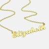 Custom Name Plate Necklace in Gold of Sterling SIlver