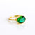 Emerald Oval Bezel Ring : May Birthstone