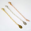 Necklace extender - Sterling Silver or 14K Gold Filled or Rose gold filled oxidized blackened silver