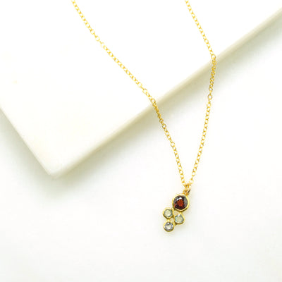 Tiny Cluster Birthstone Necklace for Mom : Available in All Birthstones