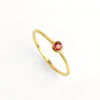 Dainty Stackable Garnet Ring : January Birthstone