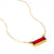 Garnet Bar Necklace : January Birthstone : Adira Series