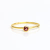 Dainty Stackable Garnet Quartz Ring, January Birthstone