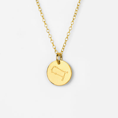 Zodiac Constellation Necklace - Silver, Gold or Rose Gold