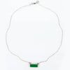 Green Onyx Bar Necklace : May Birthstone : Adira Series