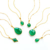 Green Onyx Necklace : May Birthstone