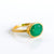 Green Onyx Oval Ring : May Birthstone