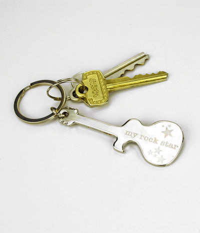 Personalized Guitar Bottle Opener Keychain